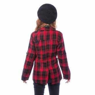 Ženska jakna (blazer) CHEMICAL BLACK - SARDONYX - RED TARTAN, CHEMICAL BLACK