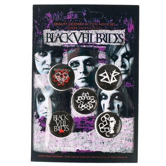 Pin Značke Black Veil Brides - RAZAMATAZ, RAZAMATAZ, Black Veil Brides