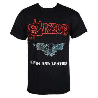 Moška Metal majica Saxon - DENIM & LEATHER - RAZAMATAZ, RAZAMATAZ, Saxon