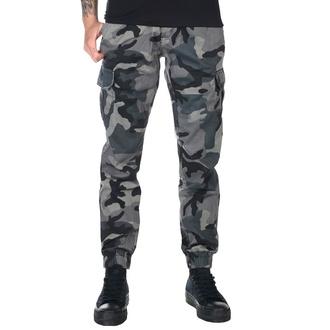 Ženske hlače URBAN CLASSICS - High Waist - temno camo, URBAN CLASSICS