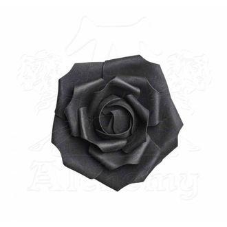 Dekoracija ALCHEMY GOTHIC - Small Black Rose Head, ALCHEMY GOTHIC