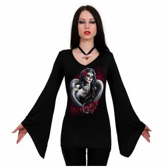 Ženska majica z dolgimi rokavi SPIRAL - DOTD SNAKE - Črna, SPIRAL