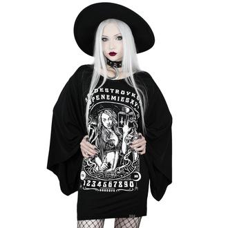 Ženska majica (tunika) KILLSTAR - Spellcaster Kimono - ČRNA - KSRA001821