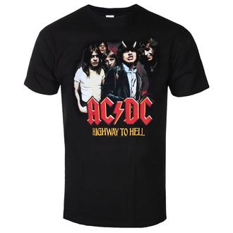 Moška majica AC / DC - Highway To Hell - GrouP - Črna, BIL, AC-DC