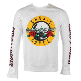 Moški pulover Guns N' Roses - Classic & Text Logos - WHT - ROCK OFF, ROCK OFF, Guns N' Roses