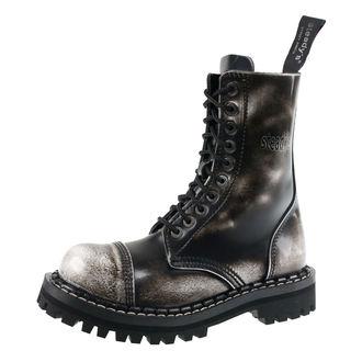 Škornji STEADY´S - 10 vezalnih lukenj - Bela črna
