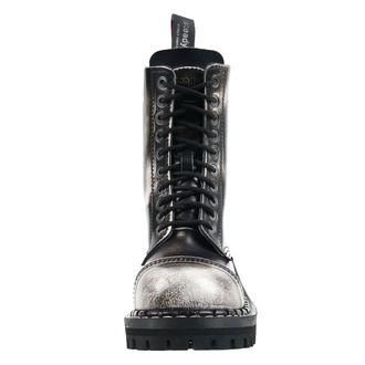 Škornji STEADY´S - 10 vezalnih lukenj - Bela črna, STEADY´S