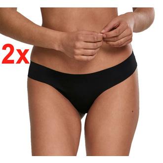 Ženske hlačke (tangice) URBAN CLASSICS - 2-Pack set - Seamless String - črna, URBAN CLASSICS