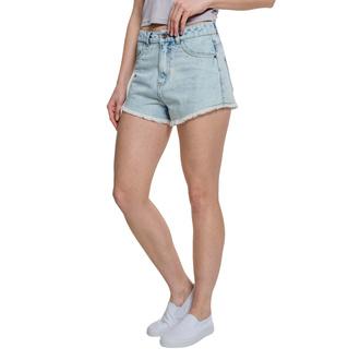 Ženske kratke hlače URBAN CLASSICS - Denim Hotpants - beljena modra, URBAN CLASSICS