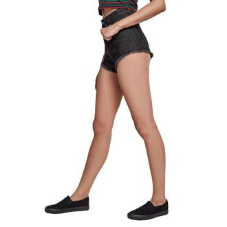Ženske kratke hlače URBAN CLASSICS - Denim Hotpants - preprana črna, URBAN CLASSICS