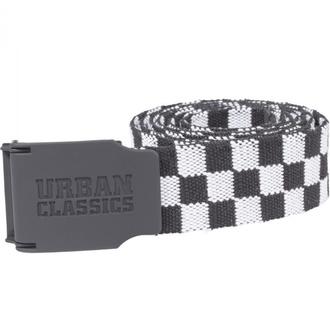Pas URBAN CLASSICS - UC Canvas Checkerboard - črna / bela, URBAN CLASSICS