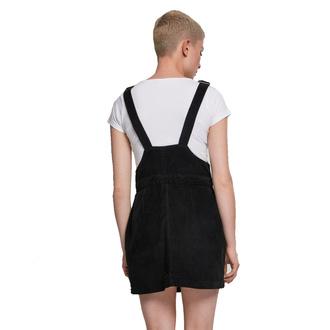 Ženska obleka URBAN CLASSICS - Corduroy Dungaree - črna, URBAN CLASSICS