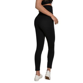 Ženske hlače (legice) URBAN CLASSICS - Visoki Pas Jersey - Črna, URBAN CLASSICS