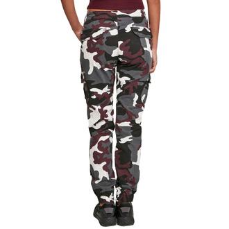 Ženske hlače URBAN CLASSICS - High Waist Camo Cargo - vinska vojaška, URBAN CLASSICS