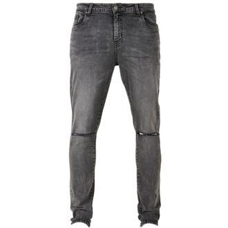 Moške hlače URBAN CLASSICS - Slim Fit Jeans - sprana črna, URBAN CLASSICS