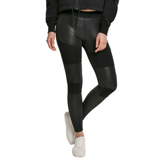 Ženske hlače (pajkice) URBAN CLASSICS - Fake Leather Tech Leggings - črna, URBAN CLASSICS