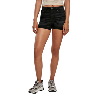 Ženske kratke hlače URBAN CLASSICS - real black washed, URBAN CLASSICS