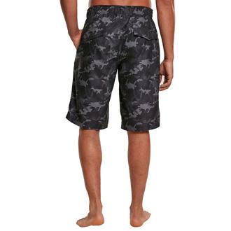 Moške kratke hlače (kopalke) URBAN CLASSICS - črna camo, URBAN CLASSICS