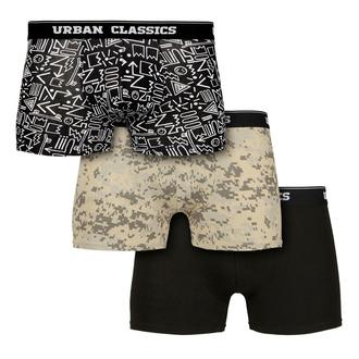 Moške boksarice URBAN CLASSICS - 3-Pack - digital camo / aztec, URBAN CLASSICS