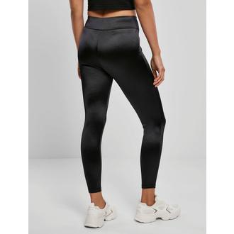 Ženske hlače (legice) URBAN CLASSICS - Sijoča Visoki Pas Legice - Črna, URBAN CLASSICS