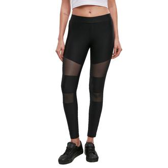 Ženske hlače URBAN CLASSICS - Tech Mesh Rib - črna, URBAN CLASSICS