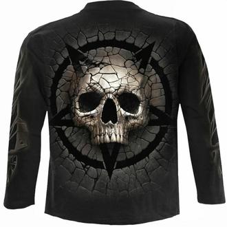 Moška majica z dolgimi rokavi SPIRAL - CRACKING UP - Črna, SPIRAL