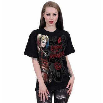 Unisex majica SPIRAL - Harley Quinn - EMBRACE MADNESS - Črna, SPIRAL