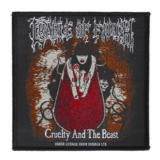 Našitek Cradle Of Filth - Cruelty And The Beast - RAZAMATAZ, RAZAMATAZ, Cradle of Filth