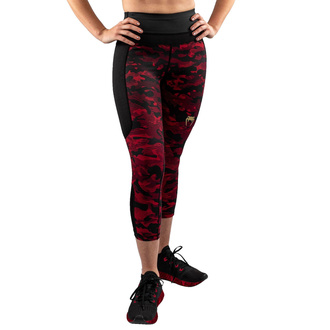 Ženske hlače (legice) VENUM - Defender - Črna / Rdeča, VENUM