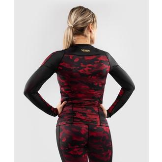 Ženska majica z dolgimi rokavi (termo) VENUM - Defender - Rashguard - Črna / Rdeča, VENUM