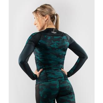 Ženska majica z dolgimi rokavi (termo) VENUM - Defender - Rashguard - Črna / Zelena, VENUM