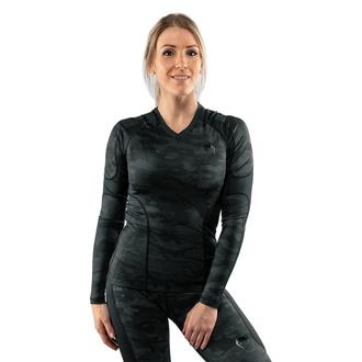 Ženska majica z dolgimi rokavi (termo) VENUM - Defender - Rashguard - Črna / Črna, VENUM