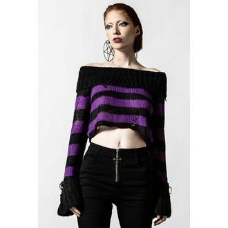 Ženski pulover KILLSTAR - Veruca Salt Knit  - Črna / Sliva - KSRA004135
