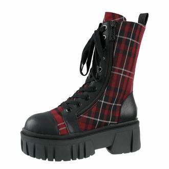 Škornji KILLSTAR - Kick The Bucket Boots - BLOOD TARTAN, KILLSTAR