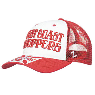 Kapa WEST COAST CHOPPERS - CLUTCH LOGO ROUND BILL - Rdeča, West Coast Choppers