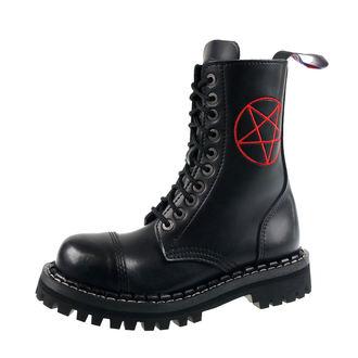 Škornji STEADY´S - 10 vezalnih lukenj - Pentagram rdeča, STEADY´S