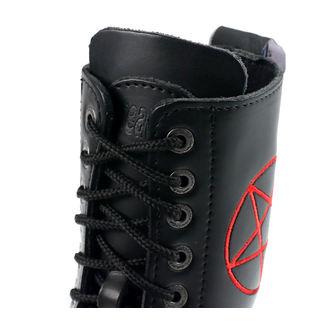 Škornji STEADY´S - 10 vezalnih lukenj - Pentagram rdeča - STE/10/H_pentagram rdeča