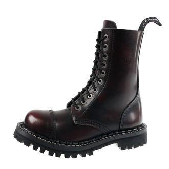 Škornji STEADY´S - 10 vezalnih lukenj - Bordo črna, STEADY´S
