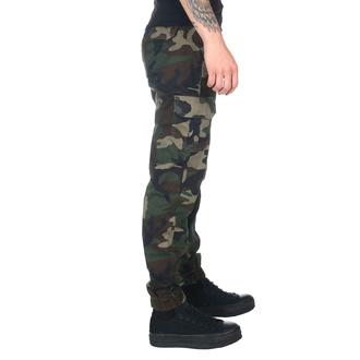 Ženske hlače URBAN CLASSICS - Visok pas - woodcamo, URBAN CLASSICS