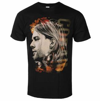 Moška majica NIRVANA - Kurt Cobain - Coloured Side View - Črna - ROCK OFF, ROCK OFF, Nirvana