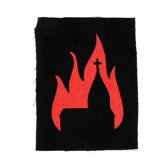 Našitek Cerkev v plamenih - Ns-075