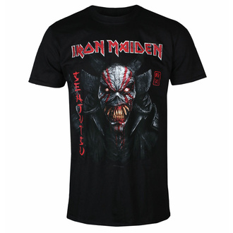 Moška majica Iron Maiden - Senjutsu Back Cover Vertical Logo BL - ROCK OFF - IMTEE133MB
