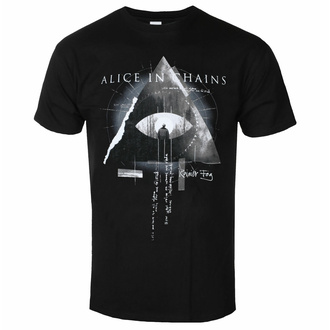 Moška majica Alice In Chains - Fog Mountain - ČRNA - ROCK OFF, ROCK OFF, Alice In Chains