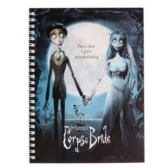 Pisalni notesnik Dead bride Tim Burton - Movie Poster, NNM, Corpse Bride