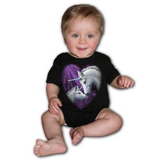 Otroški bodi SPIRAL - SACRED LOVE - Črna, SPIRAL