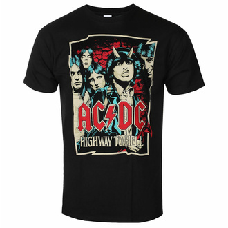 Moška majica AC/DC Highway To Hell - Sketch - Črna - ROCK OFF, ROCK OFF, AC-DC
