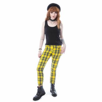 Ženske hlače CHEMICAL BLACK - XYLIA - YEL LOW TARTAN, CHEMICAL BLACK