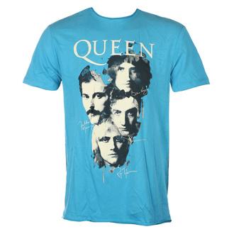 Moška majica QUEEN - AUTOGRAPHS - Zelenomodra PANTHER - AMPLIFIED, AMPLIFIED, Queen
