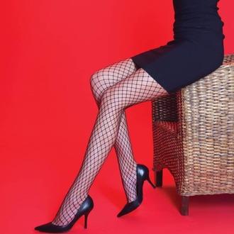 Hlačne nogavice LEGWEAR - Medium net - Črna, LEGWEAR